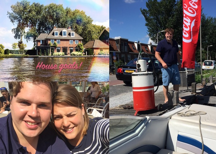 Weekend varen met  Jan en house goals