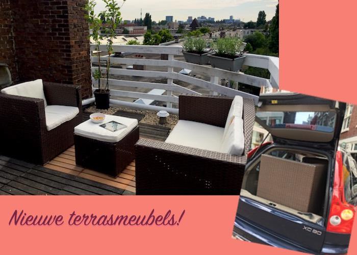 Weekoverzicht 7_zondag nieuwe loungemeubelen voor dakterras