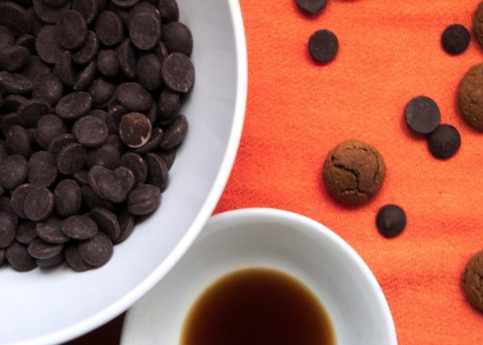 Chocolate chips voor kruidnootjes koekjes