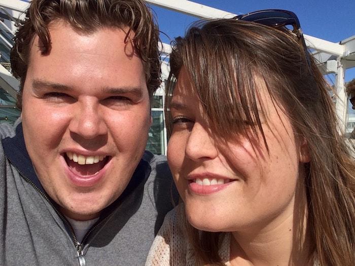 Jan en Ayla in de zon