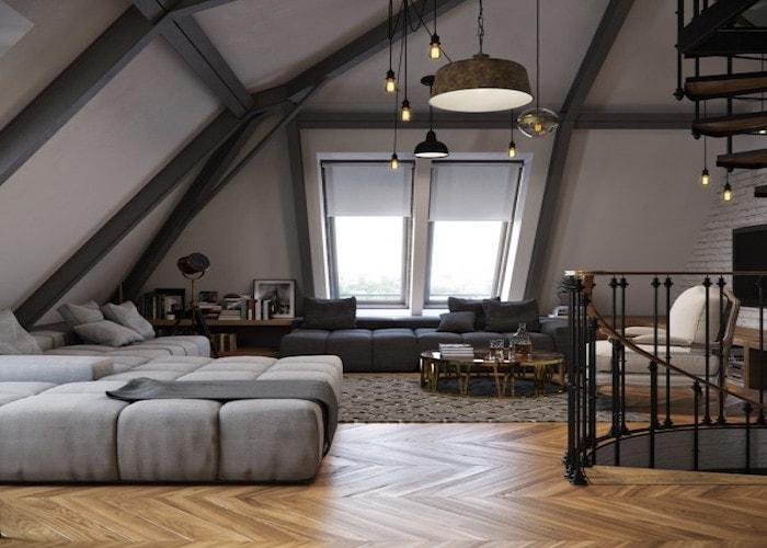 Warme en zachte materialen helpen bij een donker huis
