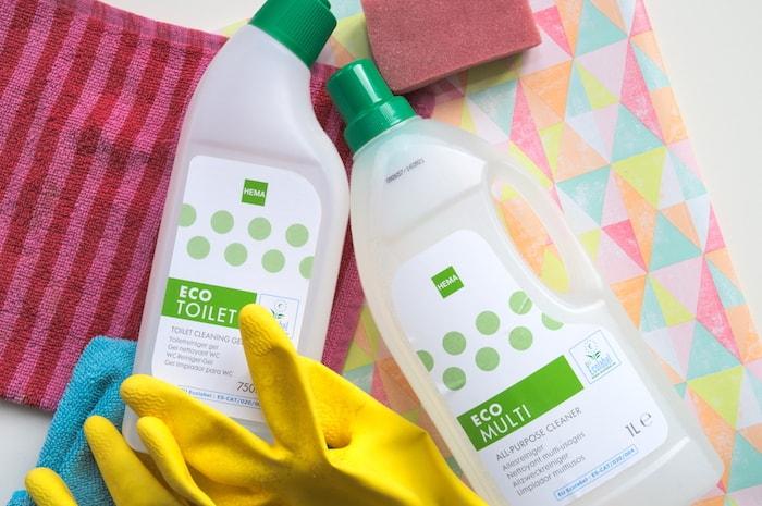 Ecologische schoonmaakmiddelen Hema