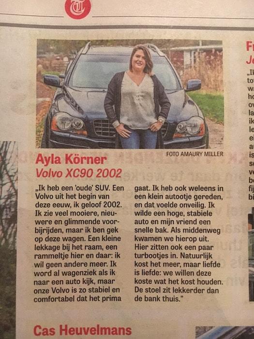 Tekst in de krant met foto