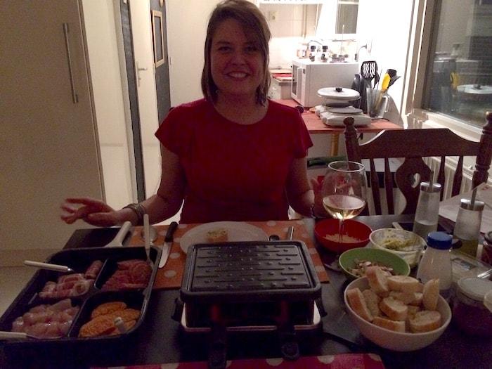 Ayla aan de gourmettafel