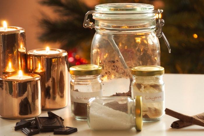 Kruiden voor in de warme chocolademelk