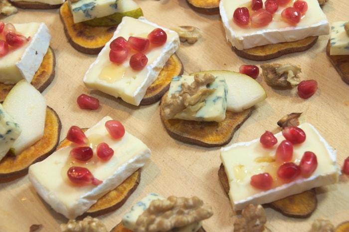 Zoete aardappel-toastjes - met kaas