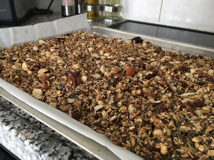 Granola bakken