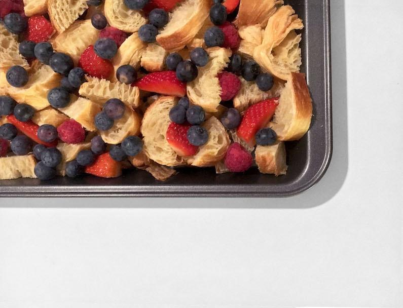 Croissantpuffs met fruit